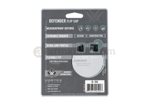 Defender Flip-Cap Objective 56mm (Vortex Optics)