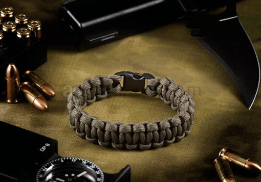 Paracord Bracelet Compact Army Green (Invader Gear)