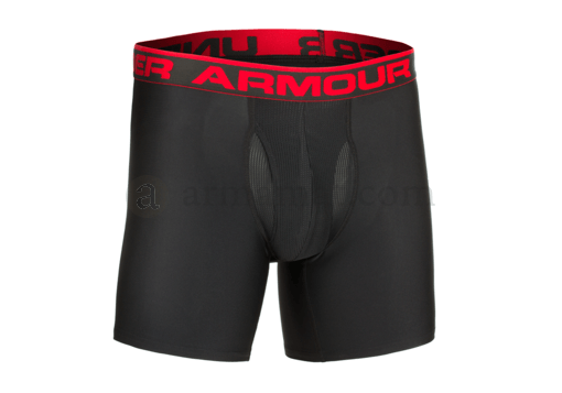 UA Original 6 Inch Boxerjock HeatGear Black (Under Armour) L
